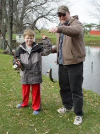 Matthew and dad with brook trout