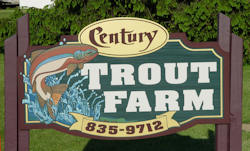 Trout farm sign