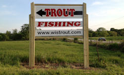 Second Trout Farm sign